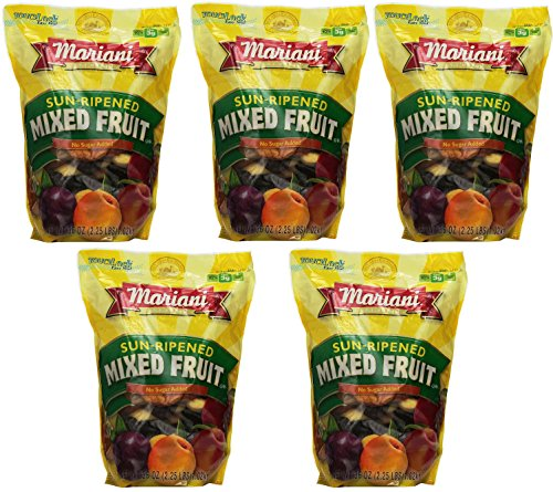 Mariani JGMfCO Sun Ripened Mixed Fruit No Sugar Added Dried Fruit, 36 Ounce (5 Pack) by  (Image #1)