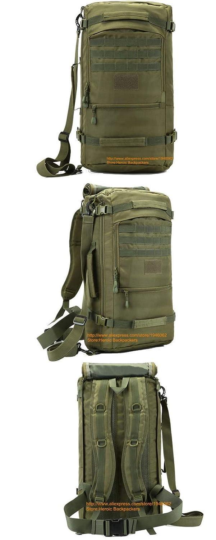 Holabag Outdoor Mochila De Senderismo 50L Tactical Shoulder Bag Military Camping Caza Bolsas Montañismo Mochila Impermeable De Nylon Cubo Bolsas De Hombro, ...