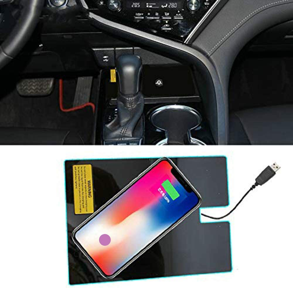 XINYUOA Perfect on Board QI Phone Wireless Charging Pad Panel Car Accessories for Toyota Camry 2018 XV70 LE SE XSE XLE