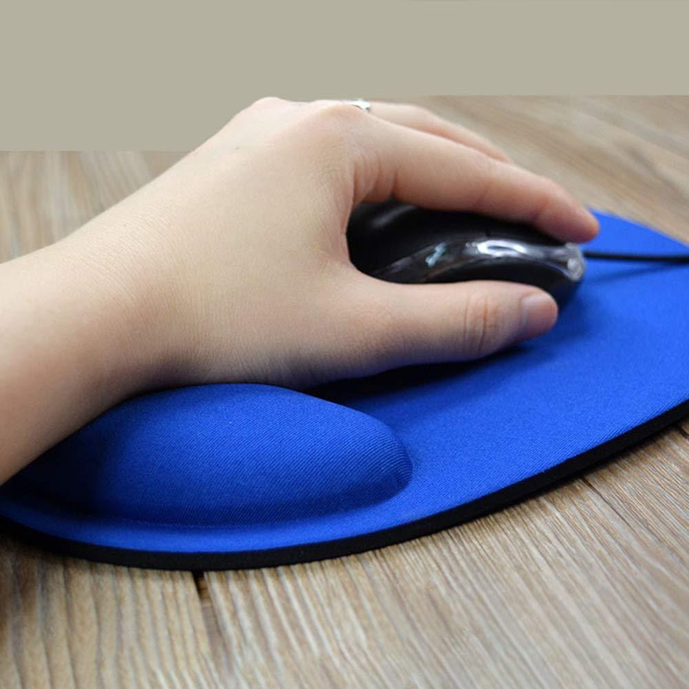 Couleur Unie TODAYTOP Tapis de Souris Ergonomique avec Support de Poignet respectueux de lenvironnement EVA pour Les Jeux dordinateur pour Bureau