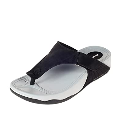 059fb16e3f9 Khadims Mens Synthetic Slippers - 10 Black  Buy Online at Low Prices ...