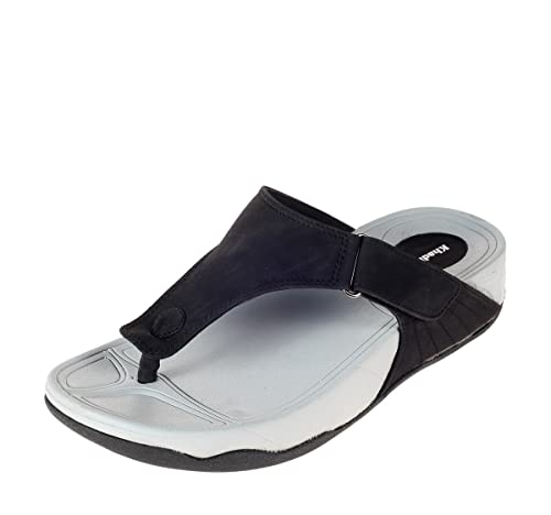 ceb72ba08e03 Khadims Mens Synthetic Slippers - 10 Black  Buy Online at Low Prices ...