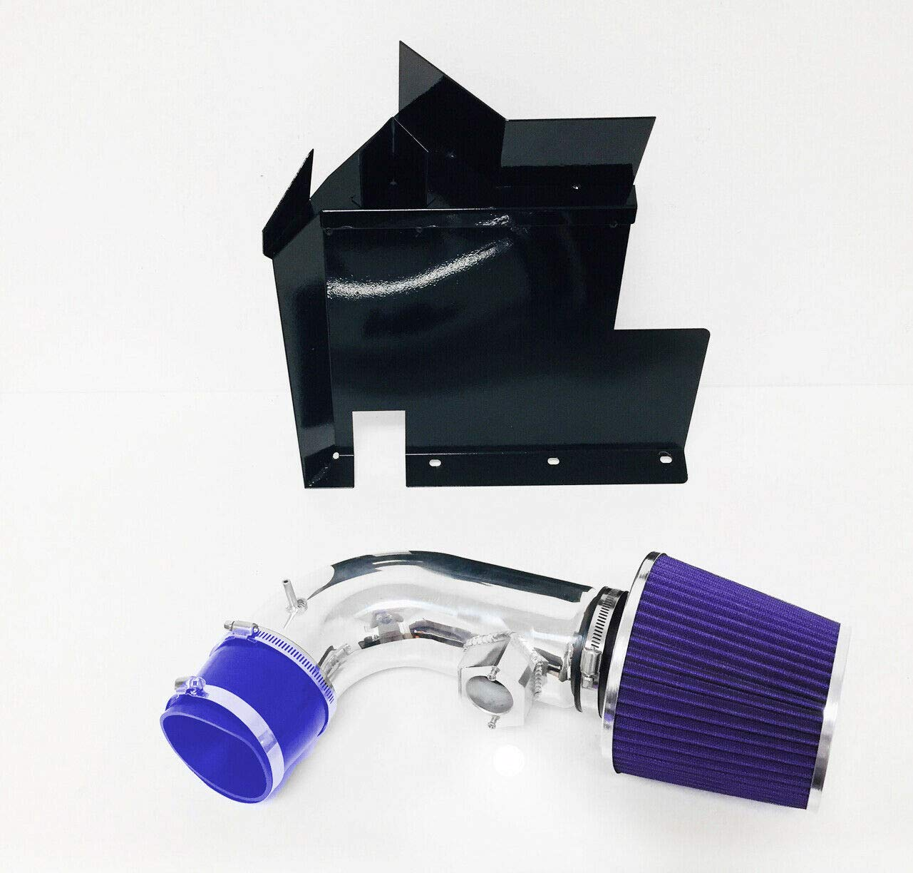 Performance Heat Shield Cold Air Intake Filter System Kit works with 2006 BMW 330i /& 2007 2008 2009 2010 2011 BMW 128i 328i 3.0L 6cyl Black Accessories /& Filter