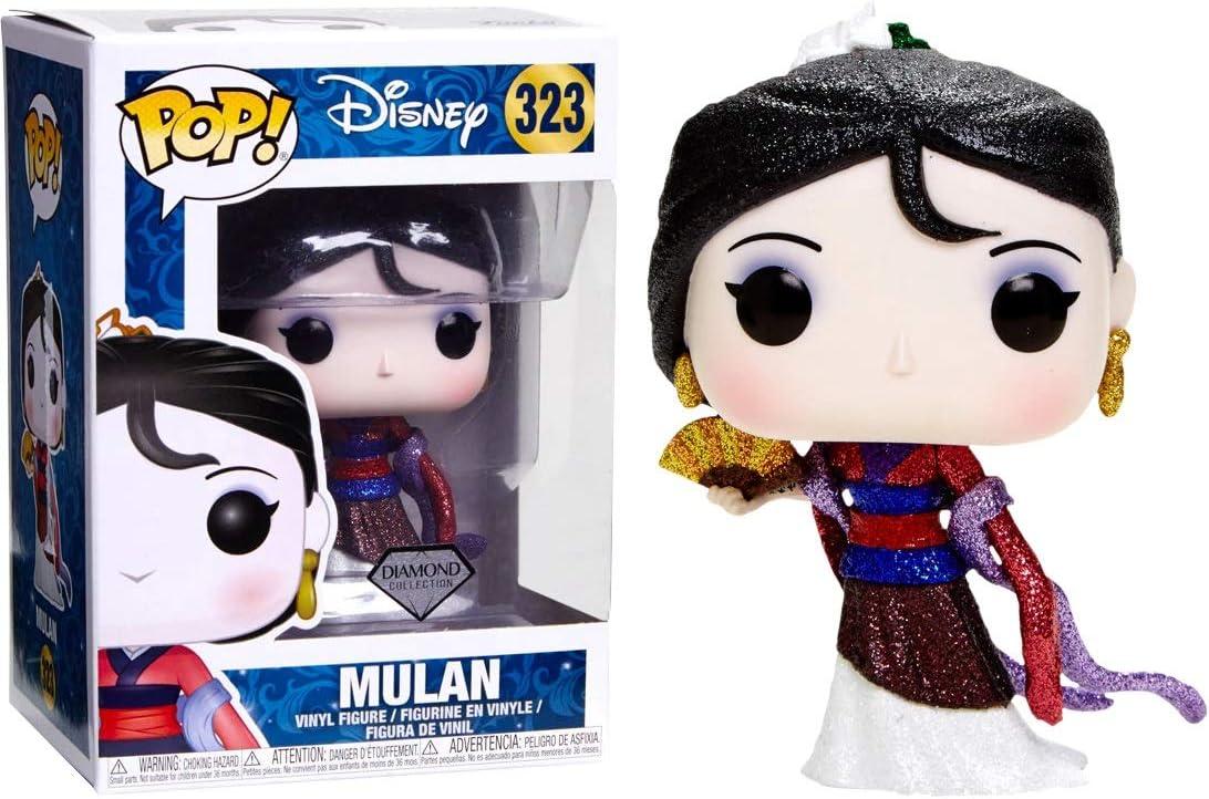 Funko - Figurine Disney - Mulan Glitter Diamond Exclusive Pop 10cm - 0889698291309