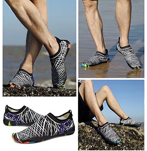Xylxyl Multifunctional Wasser Schuhe, leichte flexible Quick Dry Aqua Socken für Männer und Frauen Weiß