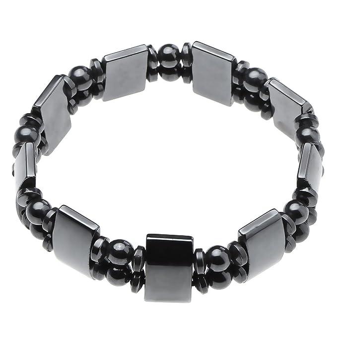 JSDDE 4pcs/set Men's Women's Hematite Metal Magnetic Therapy Bracelets IN16WHbMg9