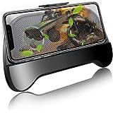スマホ 冷却 ファン 2000mAh バッテリー 荒野行動 PUBG Mobile コントローラー スマホスタンド 静音 USB充電式 スマホクーラー 金属メッシュ 散熱効果抜群 iPhone Xperia & Android 等対応