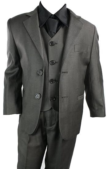 f8baebd4d Kids Boys 3 Piece Suit Brown Premium Collection: Amazon.co.uk: Clothing