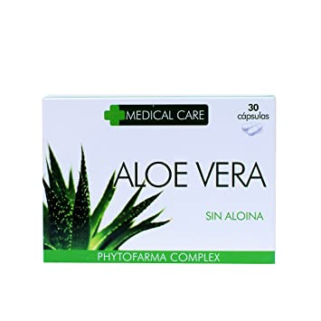 PHYTOFARMA MEDICAL CARE Aloe Vera Sin Aloina 30 cápsulas: Amazon.es: Belleza