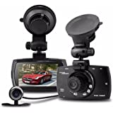 BoomBoost Dual Lens G30 FHD1080P 2.7 LCD G-sensor Dash Cam Car DVR Car Recorder Camera