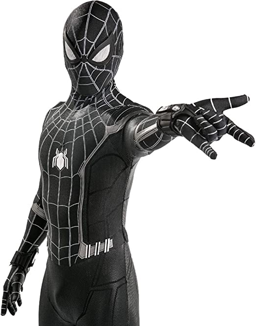 QWEASZER Spider-Man: Homecoming, Traje Negro Spiderman Hombres ...