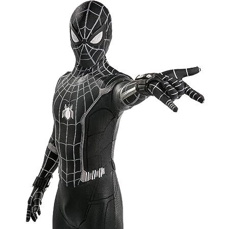 QWEASZER Spider-Man: Homecoming, Traje Negro Spiderman Hombres ...