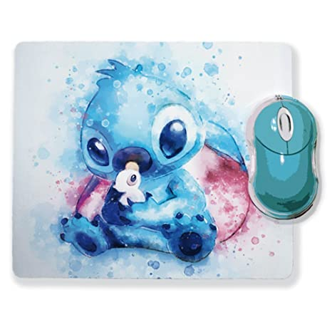 Chamalow Shop Mouse Mat Stitch Watercolour Chibi And Kawaii