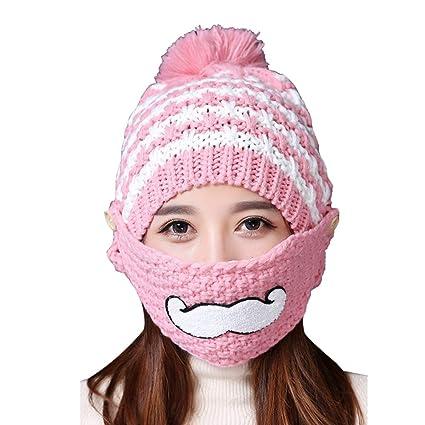 Amazon.com  BLagenertJ Cute Beard Mouth Mask Scarf Set Women s ... 485c604ef