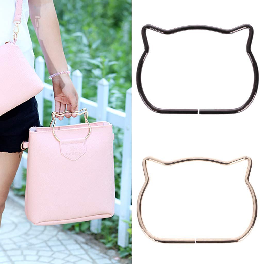 SimpleLif Metal Bag Handle,Cute Cat Ear Handle DIY Shoulder Bags Making Handbag Handle Replacement Accessories by SimpleLif (Image #3)