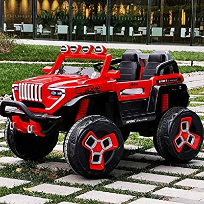 Mmsh Off-Road Terminator, Super Power Off-Road Vehicle Four-Wheel Drive 12v10 Battery 540 Motor Four-Wheeled Car Off-Road Remote Control Toy Car: Toys & Games