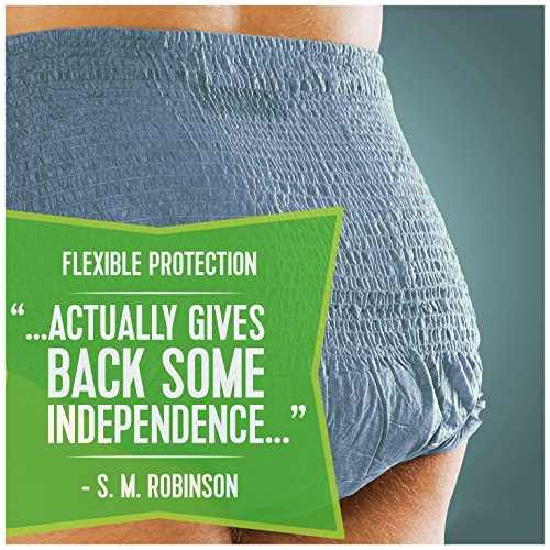 Depend FIT-Flex Incontinence Underwear for Men, Maximum Absorbency, L by Depend (Image #4)
