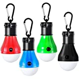 Alfie LED Camping Light, LED Camping Tent Lantern with Portable Hooks Emergency Light Battery Powered Waterproof Portable Bulb for Hiking Fishing Camping Household Car Repairing(4 PACK)