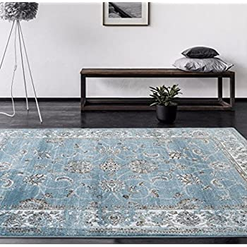 Amazon Com 4535 Distressed Blue 5 2x7 2 Area Rug Carpet