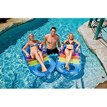 Amazoncom Inflatable Pool Float Armrest Chair Inflatable Swimming
