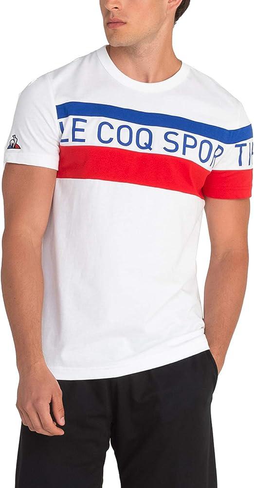 Le Coq Sportif Tri tee SS N 5 New Optical White (L, New Optical White)