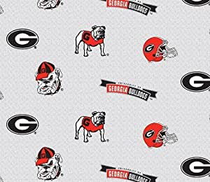 Amazon Com Georiga Fleece Fabric Georgia Bulldogs Fleece