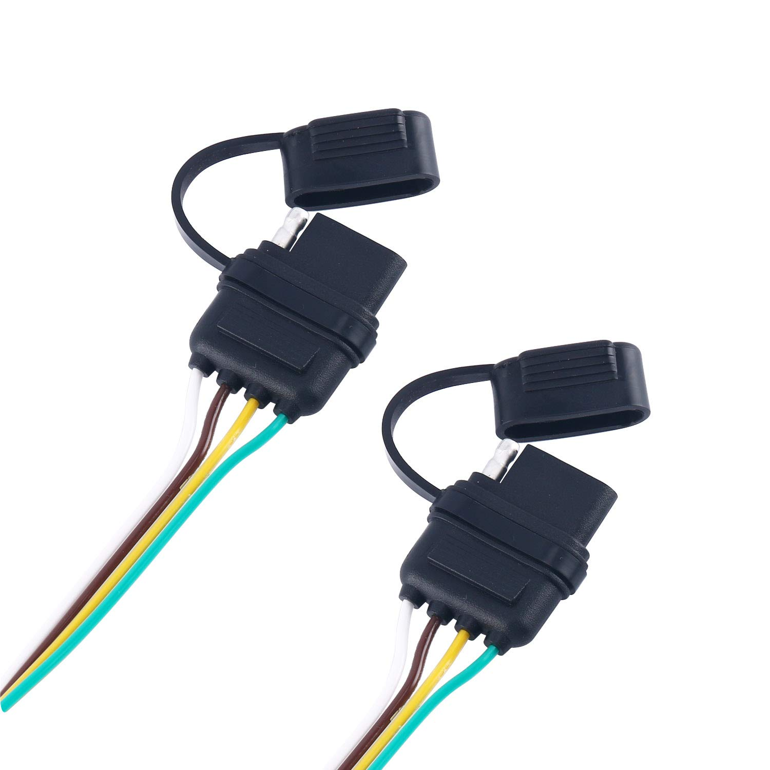 Yaekoo 4 Way Y Splitter Flat Trailer Wire Harness Extension Lights Connector Plug For Led Tailgate Light