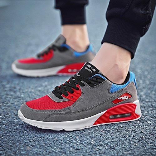 JiYe Running Shoes Men Fashion Students Breathable air Cushion Flyknit Sneakers,Grey,43EU=9.5US-Men by JiYe (Image #5)