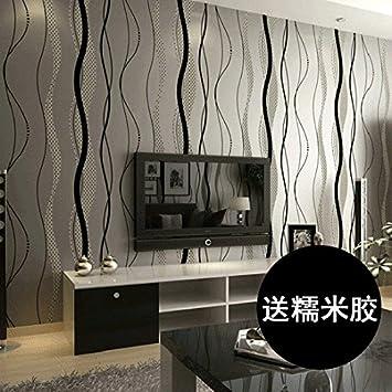 Schon Lzhenjiang Wandbilder Nicht Selbstklebende Kurve Senkrechte Streifen Schwarz  Weiß Bild Wand Videos Tapete Tv Im