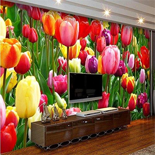 Fiori Wallpaper.Amazon Com 3d Wallpaper Bellissimi Fiori Colorati Foto Murale