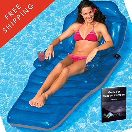 Floating Mattress For Lake Sun Comfort Tube Lounger Adjustable Pool Water Mat Chaise Raft River Fun Toys Summer Beach Inflatable Tube Adults And Kids Outdoor Relaxation Station And eBook By NAKSHOP