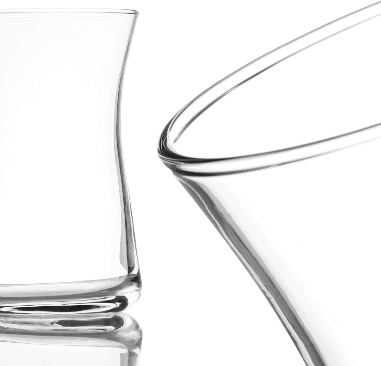 Set Orientale Originale /Çay per 12 Persone in Un Design Tradizionale Bicchieri da t/è turchi com-four/® Set da 12 Bicchieri da t/è