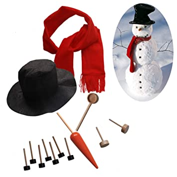 Amazoncom 13pcs Snowman Making Kit Includes Hat Scarf Carrot