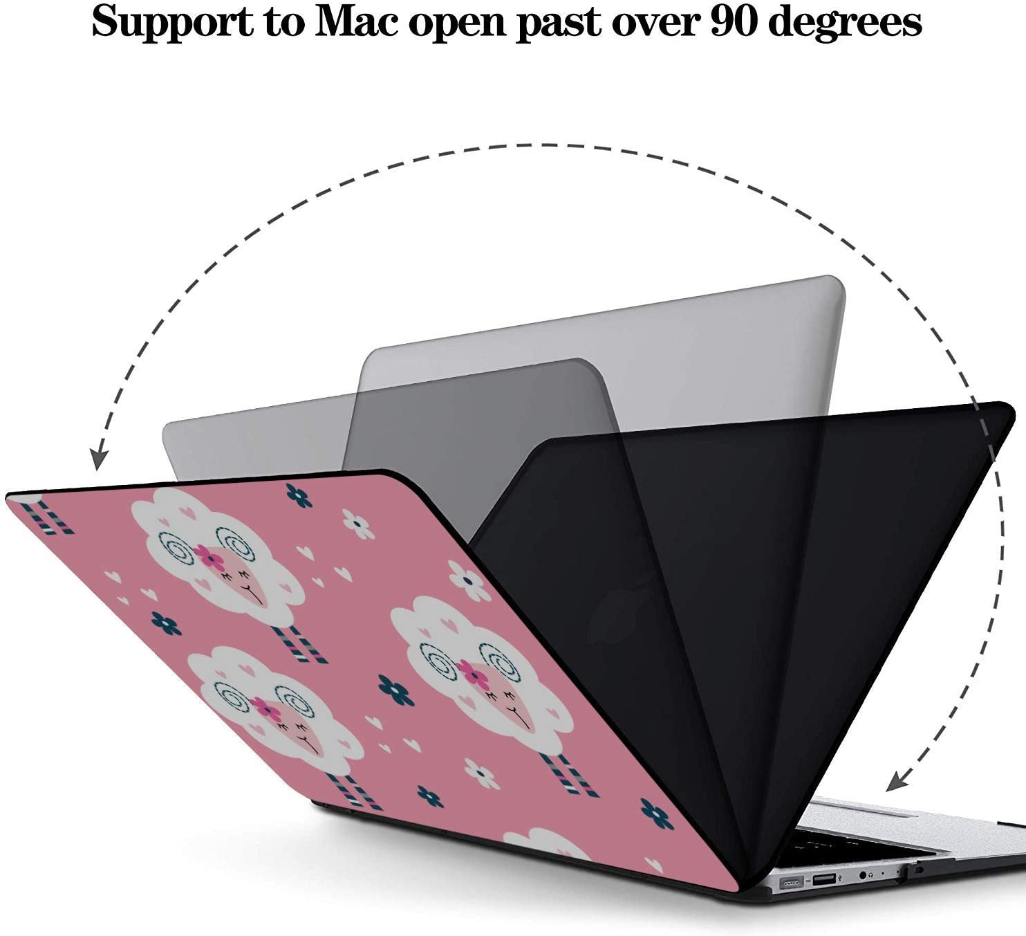 Laptop Protective Case Simple Creative Fashion Painting Plastic Hard Shell Compatible Mac Air 11 Pro 13 15 MacBook Air 1466 Case Protection for MacBook 2016-2019 Version