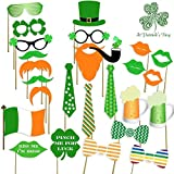 St Patrick's Photo Booth Props Party Decorations Photo Booth Props Irish Day Mustaches (A)