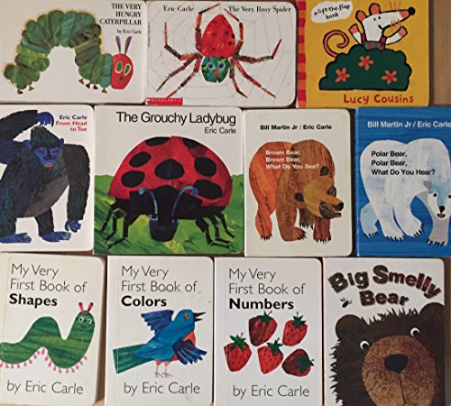 Eric Carle Children's Board Book Collection 7 Book - Is Shape Head My What