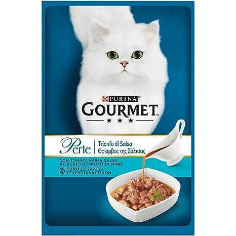 PURINA Gourmet Perle triunfo salsa de atún Gr. 85 Húmedo Alimento para los gatos