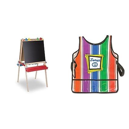 Amazon.com: Melissa & Doug Deluxe Art Easel – Pizarra ...