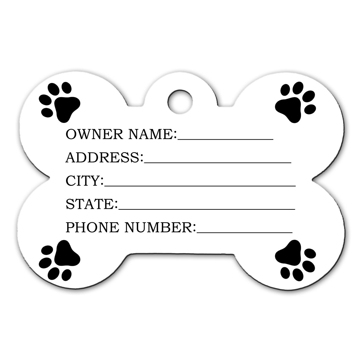 BleuReign(TM Personalized Custom Name Florida State License Plate Bone Shaped Metal Pet ID Tag with Contact Information by BleuReign (Image #2)