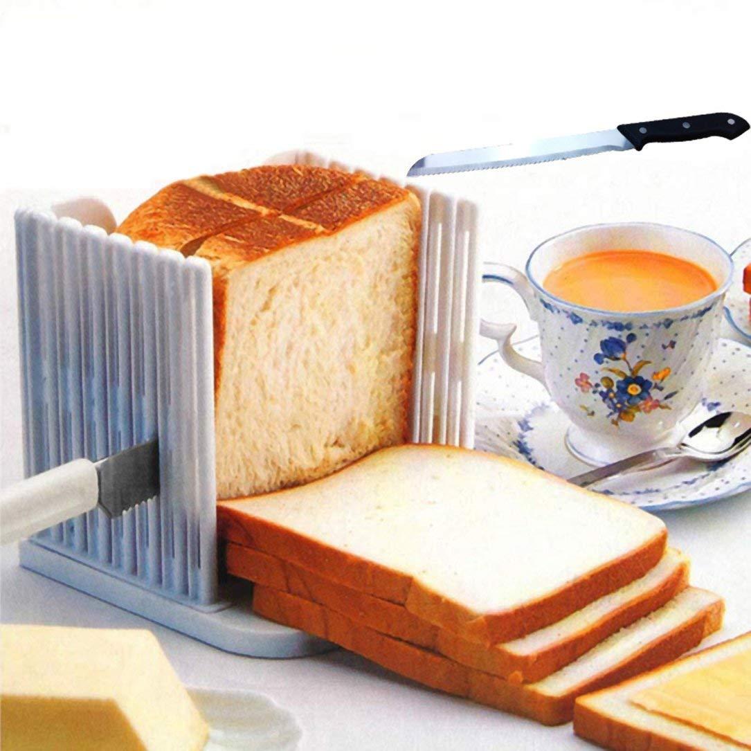 Duradera Pan ABS Herramientas cortar pan Pan de molde del cortador de la herramienta de corte de la tostada Sandwich máquina de cortar Herramientas ...