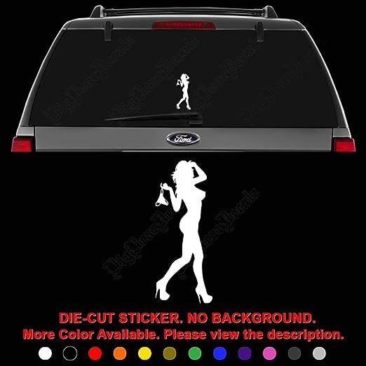 WALL  ART vinyl decal sticker STRIPPER NUDE WOMAN