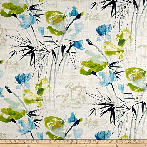 Swavelle/Mill Creek Chizoba Barkcloth Bluegrass Fabric By The Yard - Barkcloth Fabric