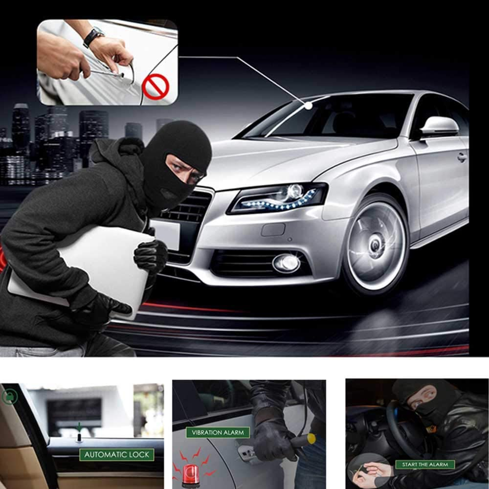 Universal Smartphone PKE Keyless Entry Central Locking Push Button Ignition Door Lock Car Alarm Automatic Trunk Opening Car Alarm System No Remote Start Only Lock//Unlock The Car