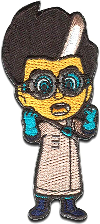 PJ Masks Héroes en pijamas Romeo Disney - Parches termoadhesivos bordados aplique para ropa, tamaño: 3,7 x 8,4 cm