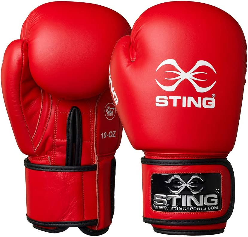 STING Mens AIBA Approved Competition or Training Boxing Gloves