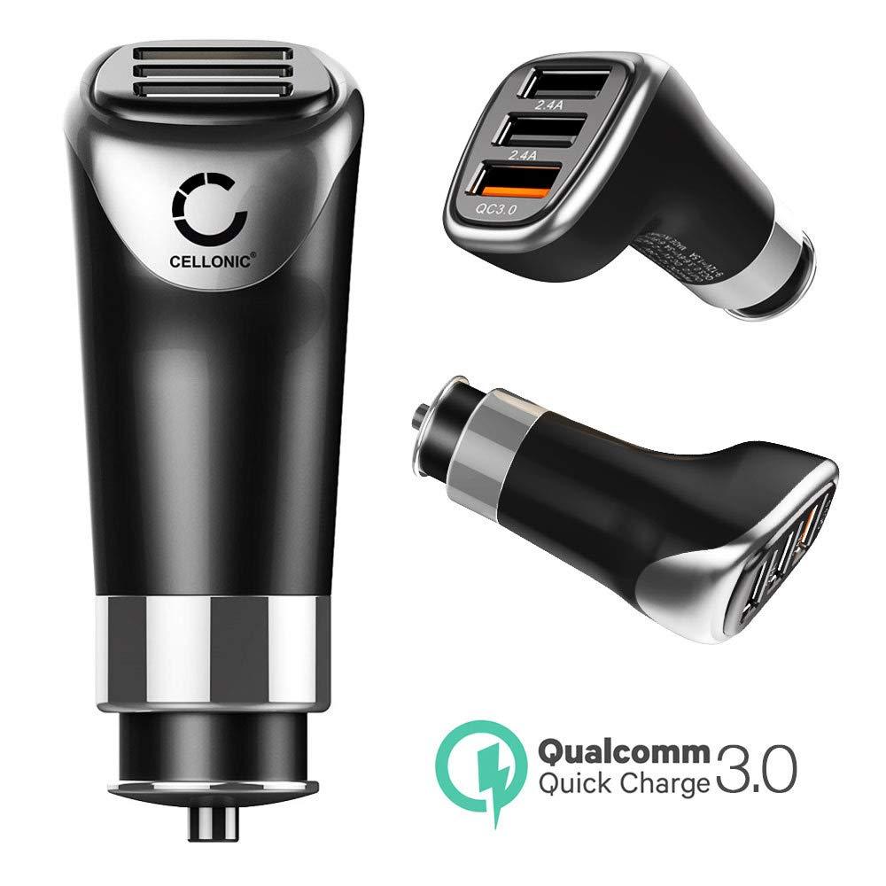 CELLONIC® Cargador de Coche USB 12V / 24V para Smartphone, eReader ...