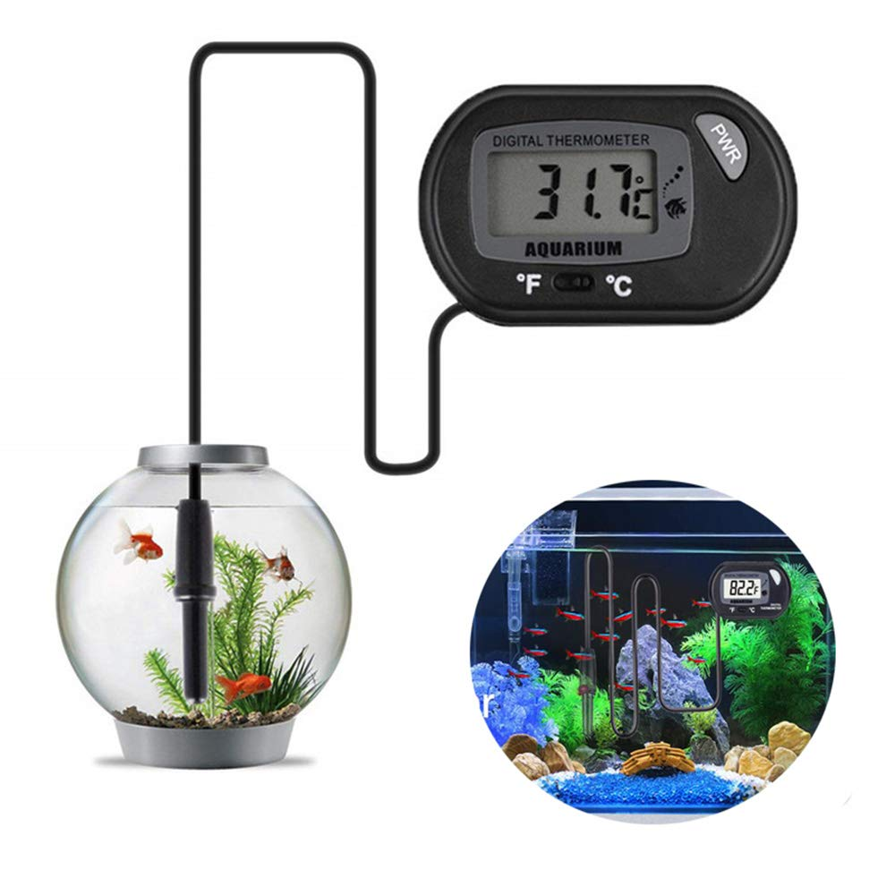 WXJHA Aquarium Submersible Thermometer, Digital LCD Fish Aquarium Marine Vivarium Thermometer by WXJHA