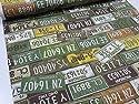 レトロ風アメリカンナンバー グリーン オックス生地 |生地|布地|コットン|安い|服地| ソーイングの商品画像