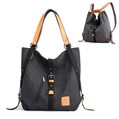 99f9ea0ae922 Chikencall 3 ways Women s Canvas Purses And Handbags Backpack Totes  Shoulder Bags Western Vintage Casual Hobo