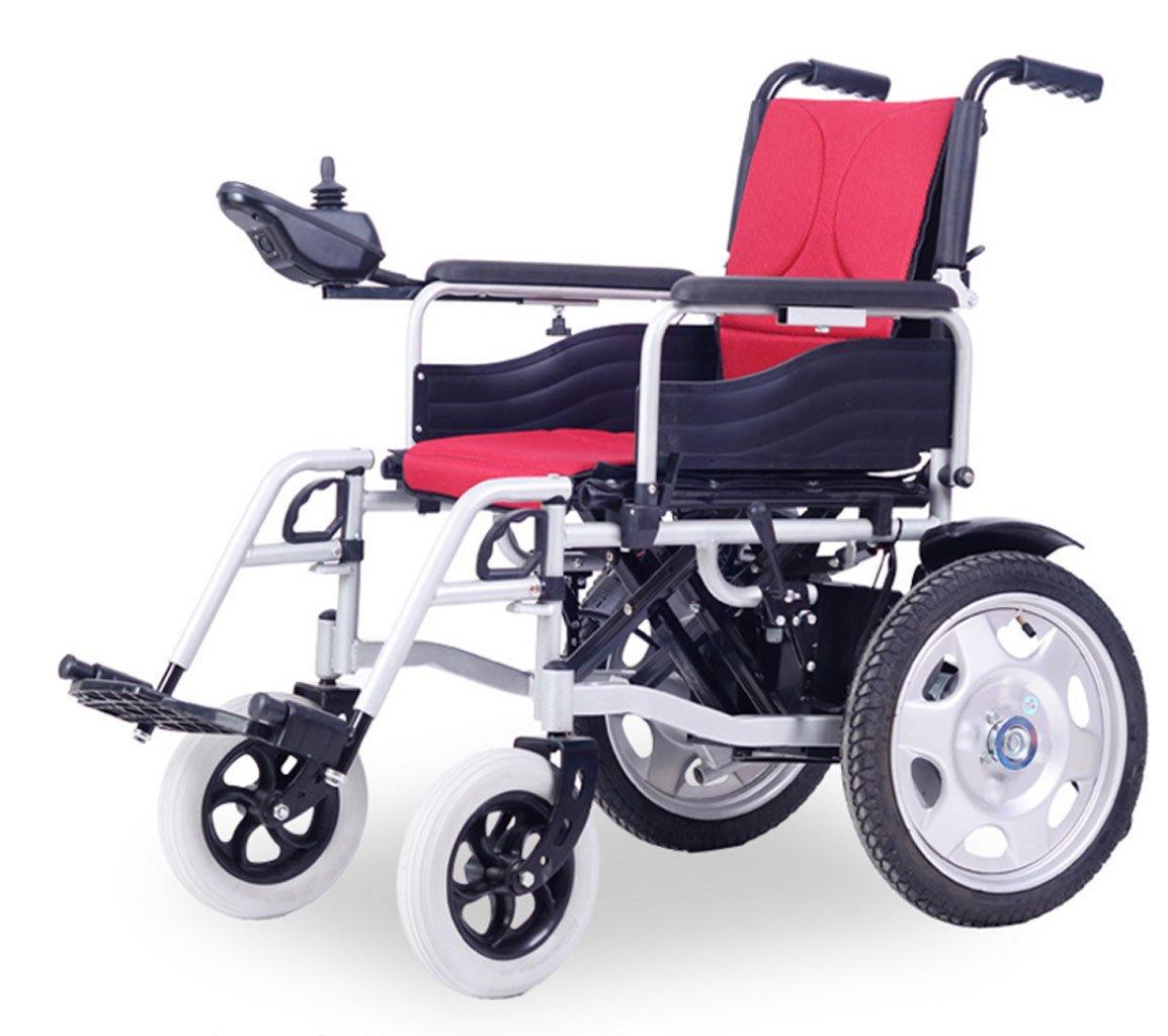 Silla de ruedas eléctrica, Scooter Antiguo, Plegable, discapacitado, ciclomotor, Totalmente automático, Inteligente (Color : Black)